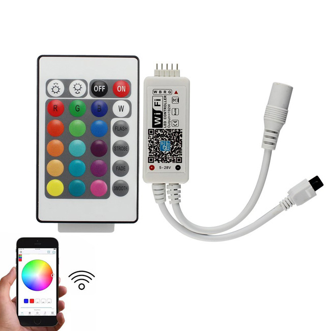 Mini WiFi RGBW LED Controller with Remote for RGBW LED Strip