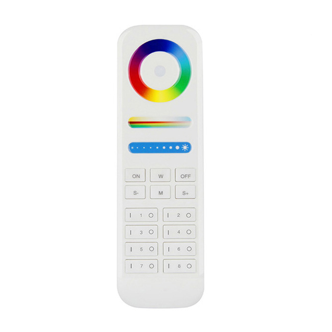 Multi-zone RGBW LED Strip Controller RF Remote, 8 Zone