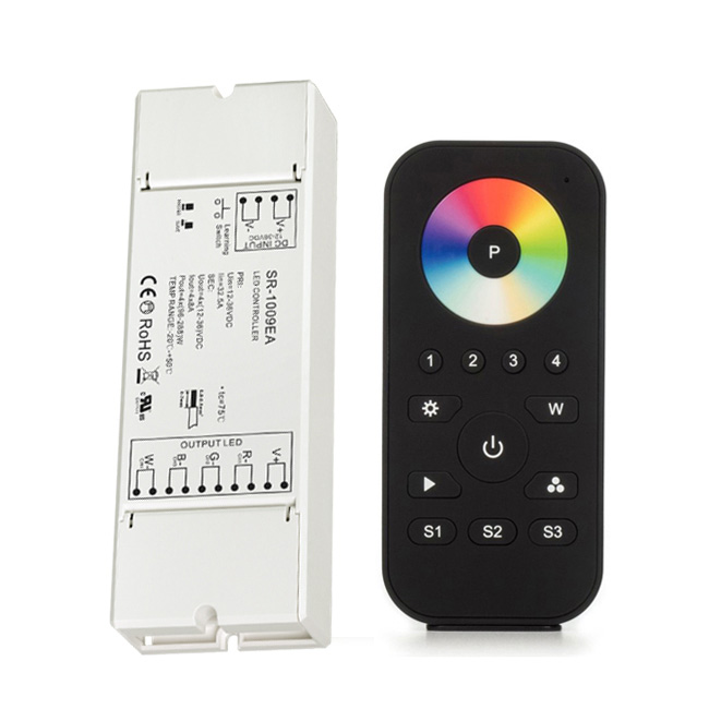 RF RGBW LED Strip Light Controller Pro with Remote, Multi Zone (4 Zone)