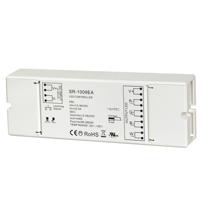 WattMax Multi-zone LED Dimmer Pro RF 4 in 1 Receiver for Dimmable Strip Lights