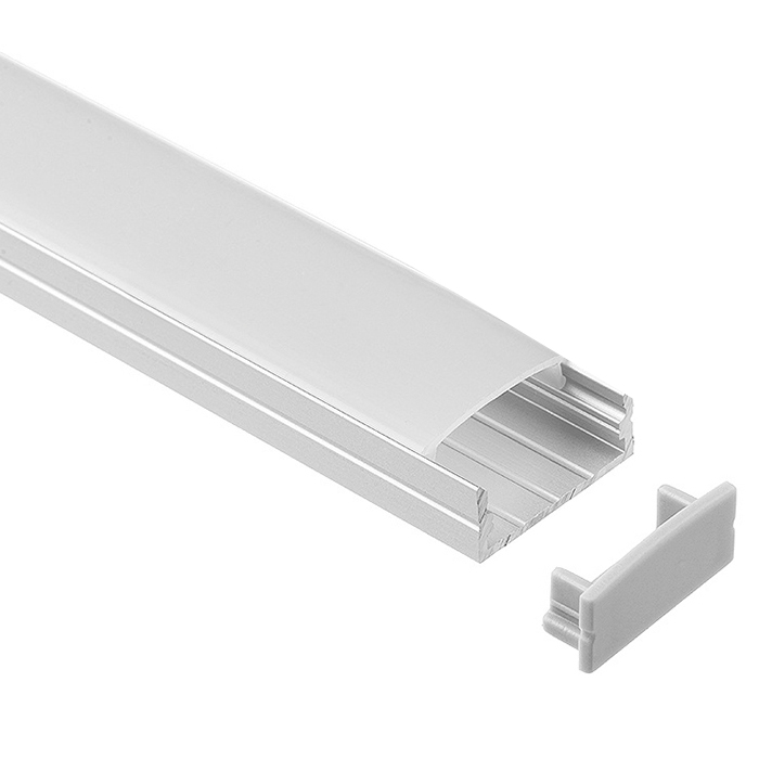 LED Strip Light Channel, Aluminum Extrusion Profile U Shape 2 M (6.56 FT), 1023