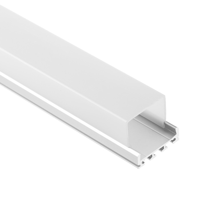 LED Strip Light Channel, Aluminum Extrusion Profile U Shape 2 M (6.56 FT), 2326S