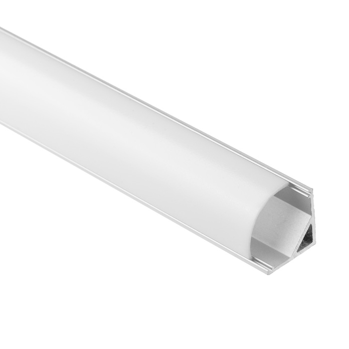 LED Strip Light Channel, Aluminum Extrusion Profile V Shape 1.17M (3.83FT), 1616R