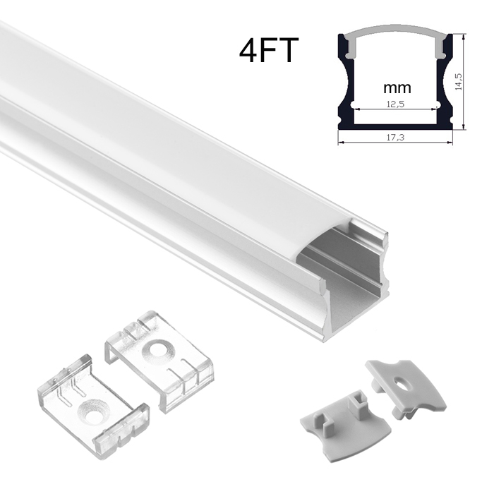 LED Strip Light Channel, Aluminum Extrusion Profile, U Shape 1.17M (3.83FT), 1715