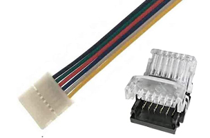6 Pin RGB+CCT LED Strip Connectors