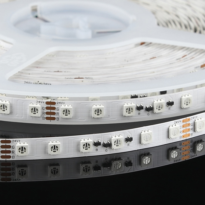 5050 24V RGB Constant Current LED Strip Light, 72/m, 10m Reel