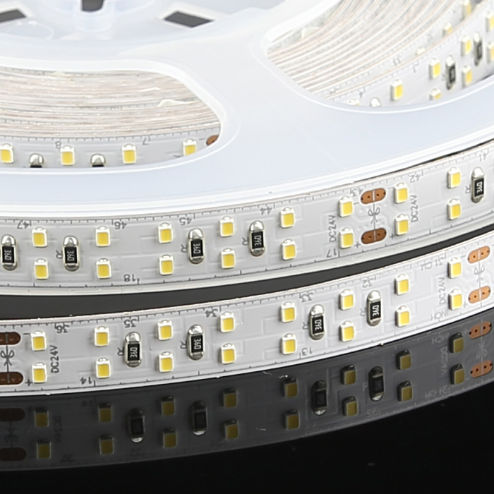 High CRI 95+ 2216 24V Double Row LED Strip Light, Cool White 6500K, 256/m, 5m Reel
