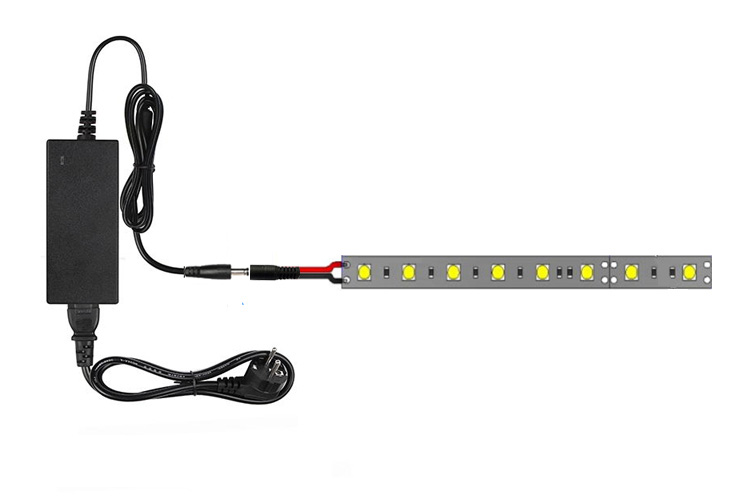connect one LED light strip to one power adapter