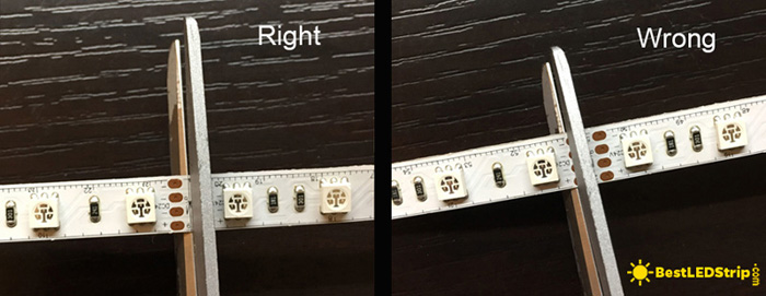 how to cut LED strip light