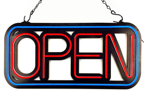 Neon led open sign for business store