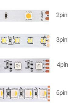 number of pins on LED strips