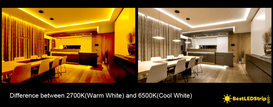 Warm white vs cool white strip lighting