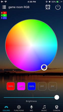 WiFi RGB controller magic home app